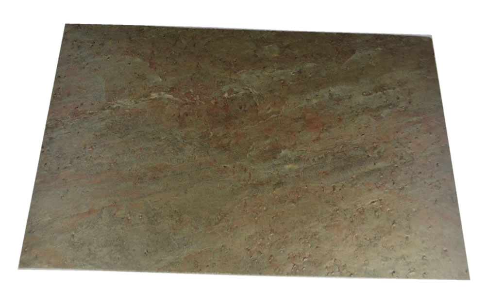 3mm silve slate real stone tile with cork pad for kitchen