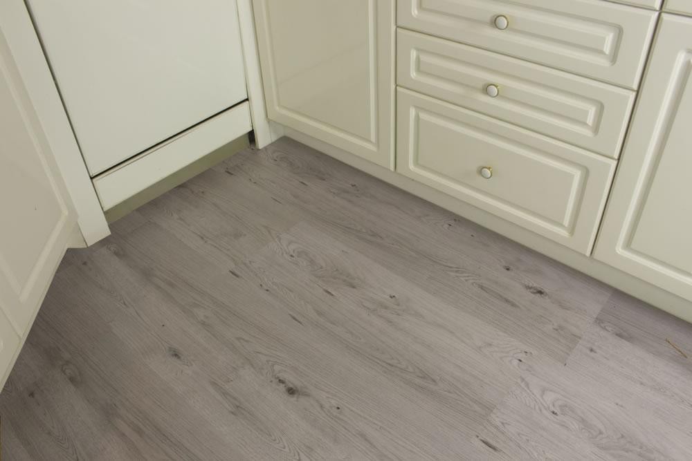 ... Oak Pearl Gray Cork Floating Flooring ...
