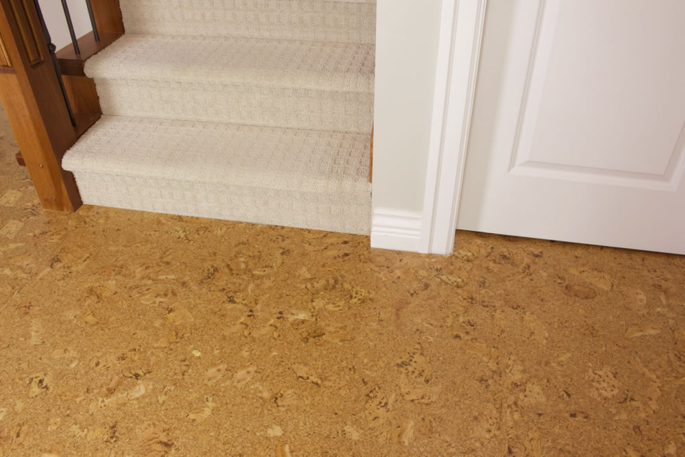 Salami 8mm glue down cork tile 18 per package for Cork flooring