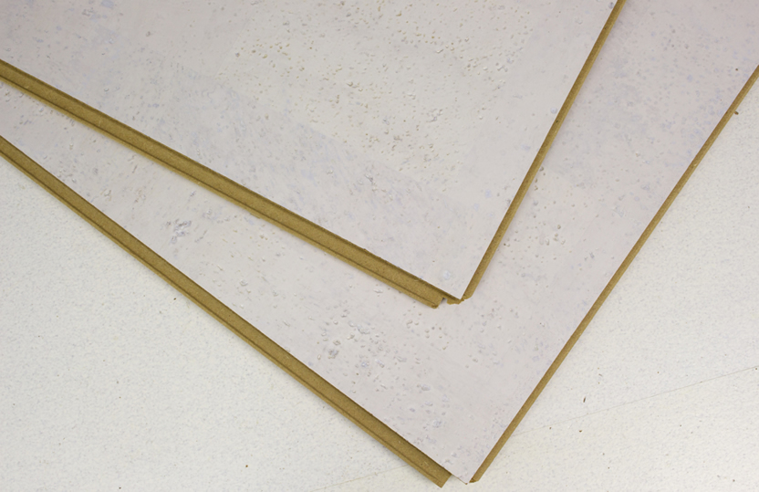 White leather 12mm cork floating floor per box for Leather flooring cost